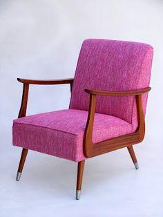 Interior design | decoration | home decor | furniture | magenta/mahogany mid-century modern chair