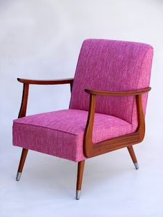 Interior design | decoration | home decor | furniture | magenta/mahogany mid-century modern chair