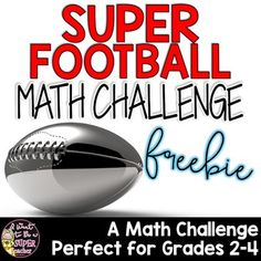 Super Football Math Freebie - Math Challenge for January  'Tis the season for football and crazy half time shows. If you're looking for a little something for your January math file look no further.   Hop on over to my blog to read about my impractical hopes for my NFL football pick 'ems and pick up a Math Challenge Football Freebie. Hope you find it useful  2nd grade 3 - 5 3-5 3rd grade 4th grade grades 3 - 5 I Want to be a Super Teacher math challenges Super Bowl