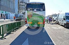 Rear View Of Elche Football Club Team Bus. - Download From Over 28 Million High Quality Stock Photos, Images, Vectors. Sign up for FREE today. Image: 48223008