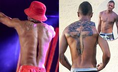 I guess Nick Cannon could've made a choice.yikes looks painful. Check out his and other decisions in love Full Body Tattoo, Back Tattoo, Trendy Tattoos, Popular Tattoos, Best Celebrity Tattoos, Love Finger Tattoo, Tattoo 2017, Arrow Tattoo Design, Pisces Tattoos
