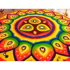Rangoli designs for diwali: Drawing rangoli is a tradition that has been passed on from many generations. Rangoli Colours, Rangoli Patterns, Rangoli Ideas, Festival Rangoli, Diwali Festival, Indian Rangoli Designs, Kolam Designs, Beautiful Mehndi Design, Beautiful Rangoli Designs