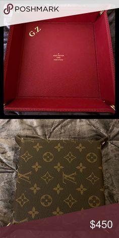 6ea57103a773 Louis Vuitton Valet New Authentic Louis Vuitton Valet Tray 6.25x6.25x1  Stamped Initials GZ Louis Vuitton Accessories