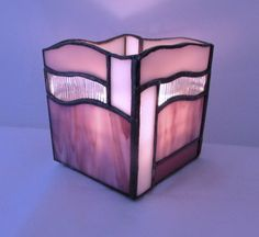 Purple Blended Stained Glass Candle Box