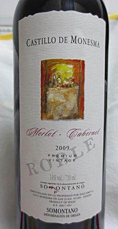 Castillo de Monesma. Merlot y Cabernet. Premium Vintage, 2009. Somontano.