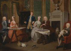 Portrait of a Family, c. 1735  William Hogarth