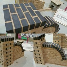 One of my level 3 students work. English bond pier, with bonded brick on edge. With a tramel cut wall and brick on edge.