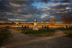 Sunrise along Cemetery Ridge, Gettysburg.