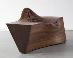 """""""Steam lounge chair, Steambent walnut (by Bae Se Hwa) Wood Furniture, Furniture Design, Furniture Ideas, Contemporary Art Forms, Modern Office Design, Bent Wood, Natural Wood, Interior Architecture, Design Inspiration"""