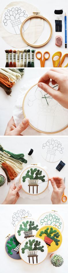 Stitch up your own version of one of Sarah K. Embroidery Designs, Embroidery Hoop Art, Ribbon Embroidery, Cross Stitch Embroidery, Cross Stitch Patterns, Diy Love, Bordados E Cia, Ideias Diy, Cross Stitching