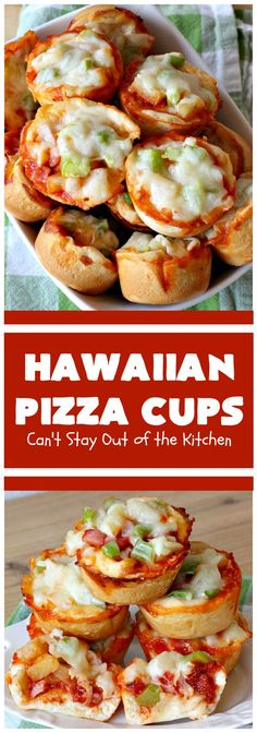 Hawaiian Pizza Cups – Can't Stay Out of the Kitchen Yummy Appetizers, Appetizer Recipes, B Recipe, Roll Recipe, Bubble Bread, Pizza Cups, Pizza Recipes Pepperoni, Hawaiian Pizza, Beef Recipes