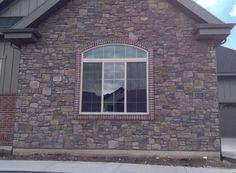 Ridgestone | Kodiak Mountain Stone Stone Exterior Houses, Stone Gallery, Manufactured Stone, Mountain, Windows, Ramen, Window, Mountaineering
