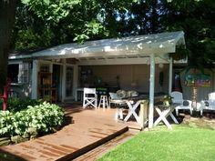backyard party shed