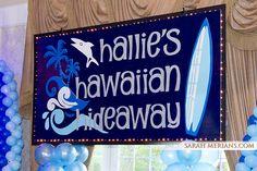 Custom Hawaiin Themed Backdrop with Chaser Lights