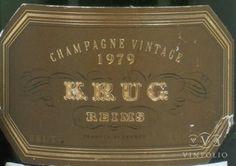 vintage krug champagne label