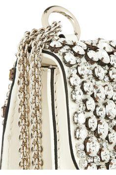 ♔ Valentino | Glam Lock Crystal-Embellished Bag