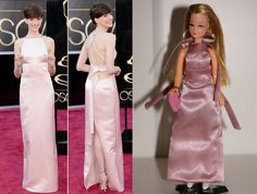 "Palitoy Pippa Topper Dawn ""Oscars Collection"" Ann Hathaway custom dress  #Dolls"