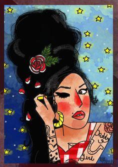 amy winehouse illustration fanart