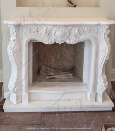 Bianco Marble Fireplace Surround - Marble Fireplace Fireplace - Beautiful Designs from Fine's Gallery Marble Fireplace Surround, Faux Fireplace, Marble Fireplaces, Fireplace Surrounds, Fireplace Mantels, Stone Exterior Houses, Wallpaper, Interior, Modern