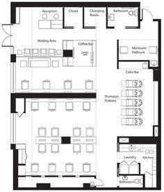 Beauty salon floor plan design layout 283 square foot for Salon floor plan maker