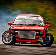 Drifting BMW E30 - Monster pic showing off massive steering ability.