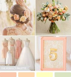 {Party Palette}: Shades of Peach, Soft Yellow   Green