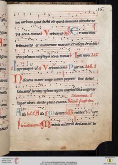 Antiphonarium Cisterciense Salem, um 1200 Cod. Sal. X,6b  Folio 16r