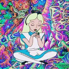 Trippy Cartoon, Dope Cartoon Art, Trippy Drawings, Psychedelic Drawings, Hippie Wallpaper, Trippy Wallpaper, Trippy Pictures, Weed Pictures, Psychadelic Art