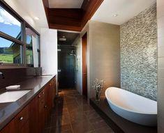 Modern Brown Bathroom Design In Wyoming Design Your Own Bathroom, Bathroom Interior Design, Modern Baths, Modern Bathroom, Brown Bathrooms Designs, Bathroom Decor Pictures, Bathroom Ideas, Best Bathroom Vanities, Bathtub Remodel