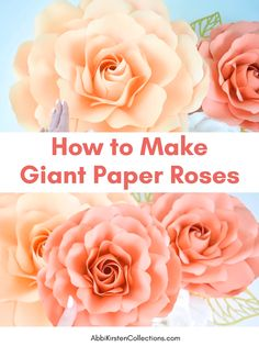 Paper Flowers Discover How to Make Easy Giant Paper Roses DIY Paper Roses: How to Make Giant Spiral Center Paper Roses. This easy step by step video tutorial will help you create the perfect paper roses! Paper Flowers Craft, Large Paper Flowers, Paper Flower Wall, Diy Flowers, Flower Decorations, Crafts With Flowers, Handmade Paper Flowers, Paper Flowers Wall Decor, How To Make Flowers Out Of Paper