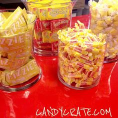 Candy Crate : Red & Yellow Retro Candy Buffet