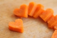 Heart-Shaped Carrots
