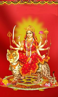 Divine Goddess, Mother Goddess, Goddess Lakshmi, Durga Images, Lord Krishna Images, Kali Hindu, Hindu Art, Durga Maa Paintings, Elefante Hindu