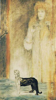 Fernand Khnopff (Belgian, 1858-1921). Chimera, 1910