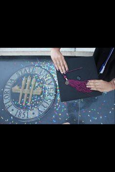 Garnet and gold graduation nails. Florida State University (FSU). Cap and gown picture ideas. Winter, Fall 2013 #glitter #sparkle #confetti