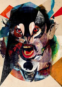 Bestia 03 by Alvaro Tapia Hidalgo, via Flickr. The manner in which Hidalgo merged the two heads together manages to be keep the identity of the two heads obvious while still abstracting their forms.