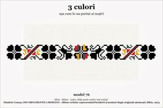 Semne Cusute: din TRANSILVANIA Folk Embroidery, Embroidery Patterns, Knitting Patterns, Fake Tattoo, Rose Gold Texture, Calla, Cross Stitch Borders, Clipart, Beading Patterns