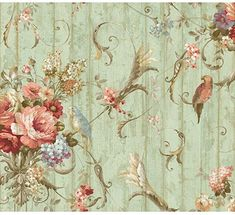 York Wallcoverings Floral Bouquet Removable Wallpaper - - Amazon.com