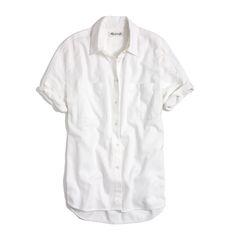 madewell white cotton courier shirt: folk-rock songwriter sharon van etten's summer pick. #madewellxspotify