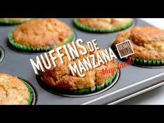 Muffins de manzana muy fáciles de preparar. Una receta diferente de muffins con harina integral que los hacen saludables, pero a su vez por tener lacanti