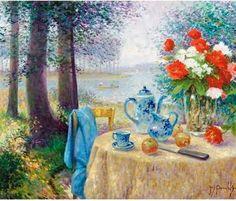 Garden Paintings by Jos Pauwels (1918-1976) Belgian Artist