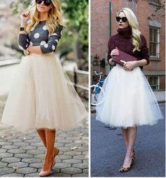 Une jolie tenue de fête: Aujourd'hui les fashionistas porte souvent les jupons en tulles comme des jupes. Plusieurs modèles ravissants dans différents styles : Inspirez-vous ! tutoriel gratuit