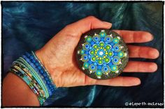 Elspeth McLean mandala stone in hues
