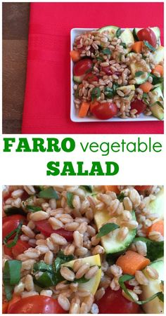 Farro Vegetable Salad makes a flavorful and healthy side dish packed ...
