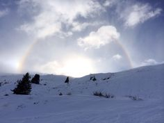 Rainbow as seen from the freeride from Alp Dado to Plaun Snowboard, Rainbow, Mountains, Places, Summer, Travel, Flims, Rainbows, Lugares