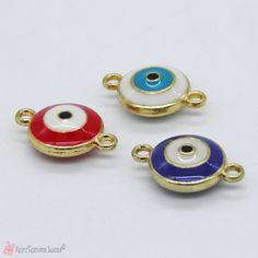 Μεταλλικό μάτι με σμάλτο σε τρία χρώματα Rings, Ring, Jewelry Rings
