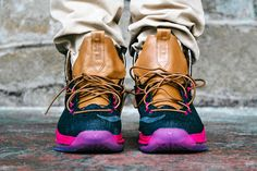 nike lebron 10 sportswear pe denim 11 02 Another On Foot Look at Nike LeBron X EXT Denim QS