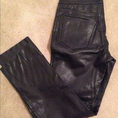 AUTHENTIC LEATHER PANTS Perfect for this winter weather! 100% real leather. Only worn once ESPRIT Pants