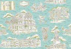 Charleston Toile!  OMG!!  Have to have this...two of my favorite things combined!  Plus it's in my favorite color!