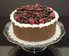 Fake Food Cake with Wild Berries on Pedestal Tray